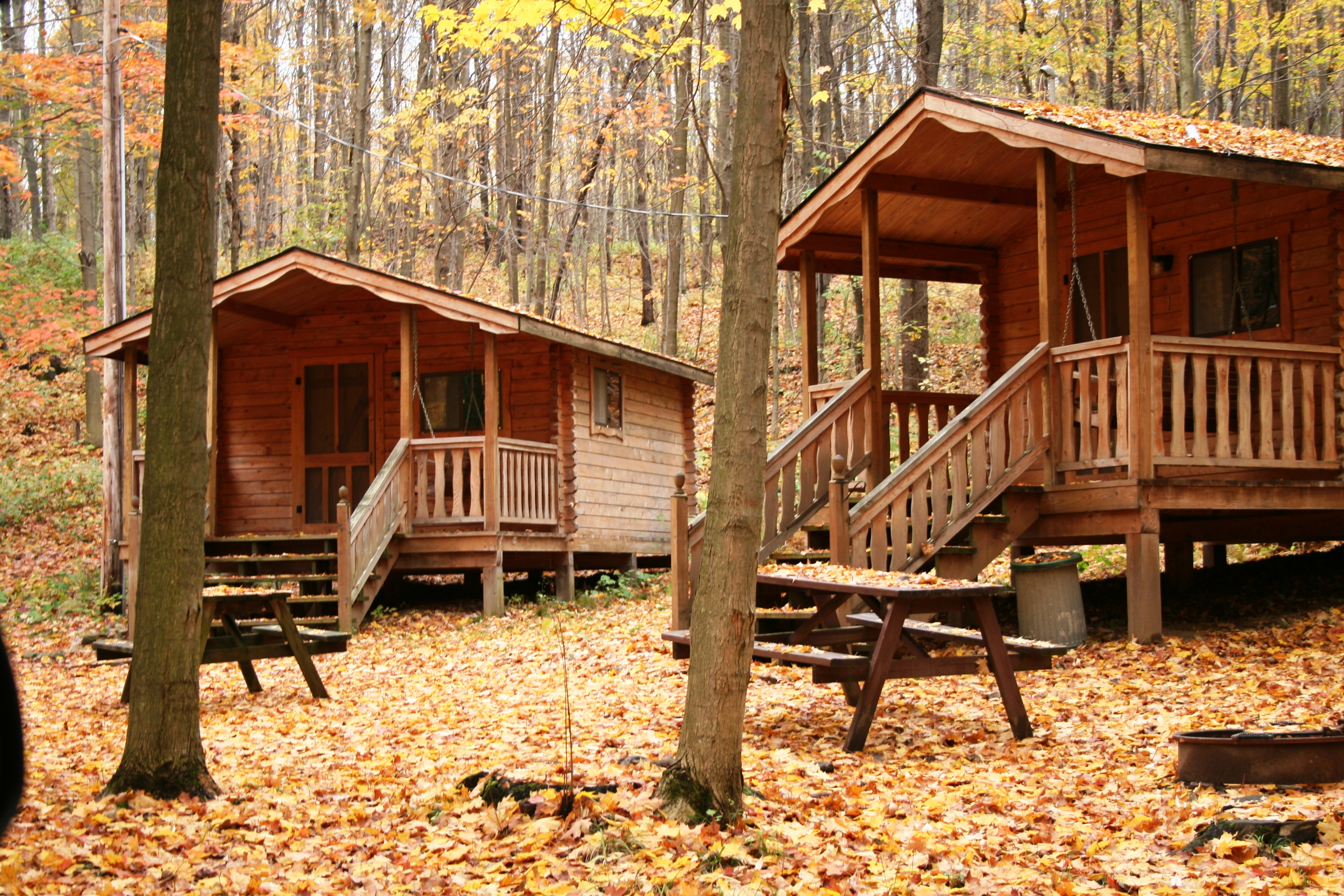 Colors all Around! Fun Fall Cabins at Pope Haven Campground!