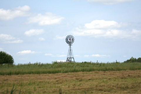 Windmill on an amish farm