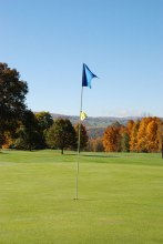 View of fall foliage from the course