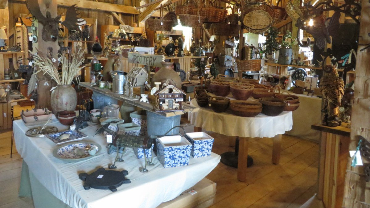 A view of some of the products in Mystic Hill Olde Barn